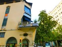 Kumpel, Girona, Spanien - 15. September 2015: Der Balkon in Girona, Katalonien, Spanien Stockfotos