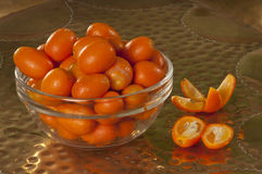 Kumquat. Type of citrus fruit.  Used mostly for making jams and jellies Stock Photo
