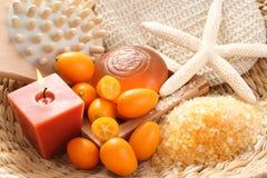 Kumquat bath Stock Photos