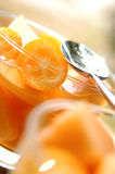Kumquat and cider cocktail. Food , drinks, beverages,cookery Royalty Free Stock Photography