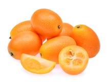 Kumquat, cumquat owoc odizolowywająca na białym tle Zdjęcia Royalty Free