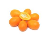 Kumquat, d'isolement Photos stock