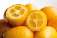 Kumquat- eller citrusjaponica Arkivbilder