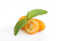 Kumquat and mint Stock Image