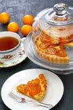 Kumquat tart, homemade dessert. Kumquat, its raw rind is sweet, with the flesh is sour like the lemon royalty free stock photo