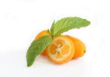 Kumquat y menta Imagen de archivo