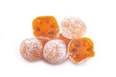 Kumquats isolated on white background Royalty Free Stock Photos