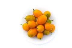 Kumquats - japonica do citrino Fotografia de Stock Royalty Free
