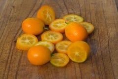 Kumquats - japonica do citrino Fotos de Stock Royalty Free