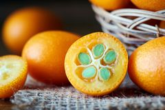 Kumquats lub Cumquats obraz royalty free
