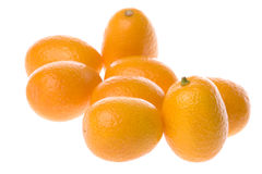 Kumquats Macro Isolated Stock Image