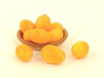 Kumquats Pottery Bowl Royalty Free Stock Photo