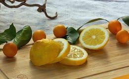 Kumquats y limones imagen de archivo libre de regalías