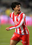 Kun Aguero. Atletico Madrid. International argentinian and Atletico de Madrid player Kun Aguero during a Spanish soccer league match celebrates goal Royalty Free Stock Photos