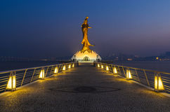 Statue of kun iam ,landmark of macau china Royalty Free Stock Photos