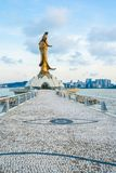 Kun Iam Statue Landmark In Macau City Royalty Free Stock Image