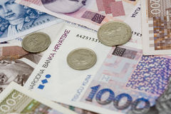Kuna - Croatian currency. Closeup photo Royalty Free Stock Images