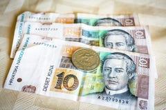 Kuna, currency of Croatia Stock Photos