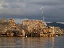 The Kuna Yala comunities in Panama Royalty Free Stock Images