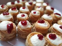 Kunafa cheesecake Fotografia Stock