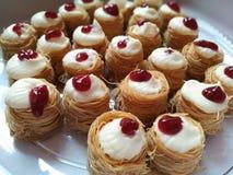 Kunafa cheesecake Zdjęcie Royalty Free