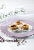 Kunafa dulce árabe Imágenes de archivo libres de regalías