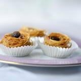 Kunafa dulce árabe Fotos de archivo libres de regalías