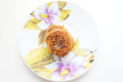 Kunafa oriental de bonbons Photographie stock libre de droits