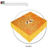 Kunafa or Palestinian Cheese Pastry with Syrup Royalty Free Stock Photography