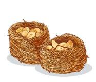 Kunafah con l'illustrazione delle arachidi Fotografie Stock