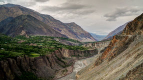 Kunar aka Chitral or Kama river, Khyber Pakhtunkhwa province Pakistan Stock Image