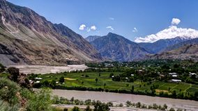 Kunar aka Chitral or Kama river, Khyber Pakhtunkhwa province, Pakistan. Kunar aka Chitral or Kama river near Lowari pass, Khyber Pakhtunkhwa province, Pakistan Royalty Free Stock Image