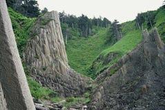Kunasir Kurils islands Rocks Russia. N Federation stock images