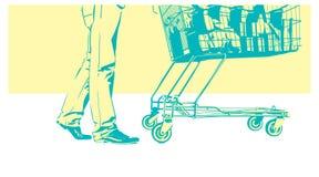 Kund med spårvagnen vektor illustrationer