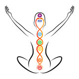 Kundalini energy Stock Images