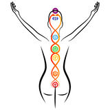 Kundalini energy Stock Photography
