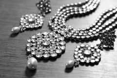 Kundan珠宝 免版税图库摄影