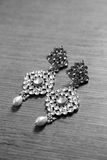 Kundan ear-rings. Royalty Free Stock Images