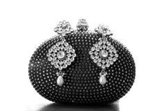 Kundan jewellery. Beautiful shot of traditional kundan jewellery royalty free stock photography