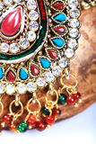 Kundan jewellery detail Royalty Free Stock Images