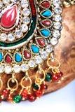 Kundan jewellery detail Royalty Free Stock Images