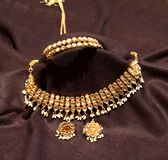 Kundan jewelry in black background Stock Image