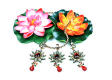 Kundan and polky jewellery Stock Photos