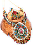 Kundan and polky jewellery Stock Image