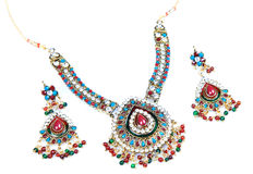 Kundan and polky jewellry Stock Photography