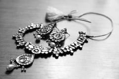 Kundan smyckenuppsättning Fotografering för Bildbyråer