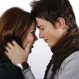 kunde jag kysser nu höger sida dig Royaltyfri Foto