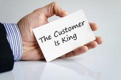 Kunden är konungtextbegreppet royaltyfri fotografi