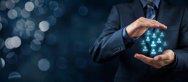 Kunden eller anställda att bry sig begrepp Royaltyfria Bilder