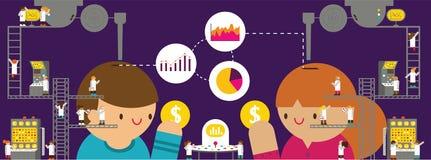 Kunden-Forschung u. Analyse Stockbilder